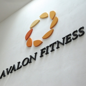 3D písmo - Avalon fitness