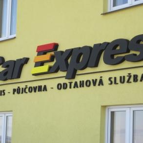 3D písmo - Car Expres