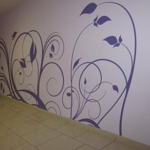 Polep stěn speciální folií