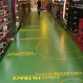 Pryskyřicová podlaha s potiskem