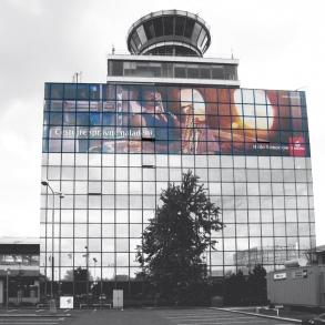 Polep střediska letového provozu v Praze