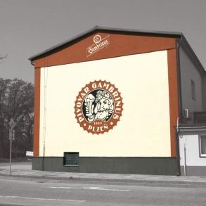 Malba fasády - Gambrinus
