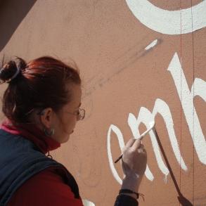 Malování fasády Gambrinus