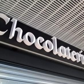 3D písmo - Chocolaterie