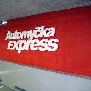 3D písmo - Automyčka Express