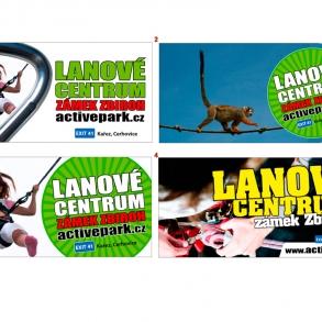 návrhy bannerů pro Lanové centrum