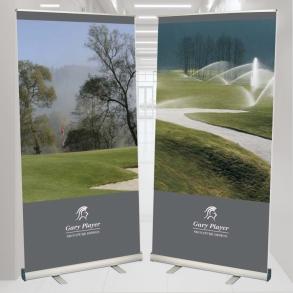 roletové stojany - propagace golfového hřiště