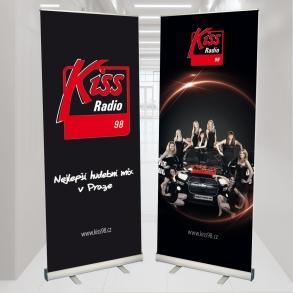 roletové stojany Kiss Radio