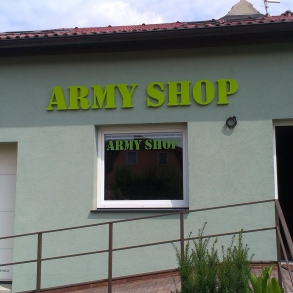 3D písmo - Army shop