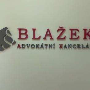 3D logo advokátní kanceláře Blažek