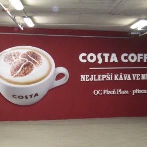 3D písmo + obrázek Costa Coffee