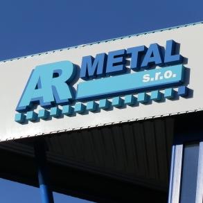 3D písmo AR metal