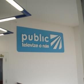 3D logo televize Public