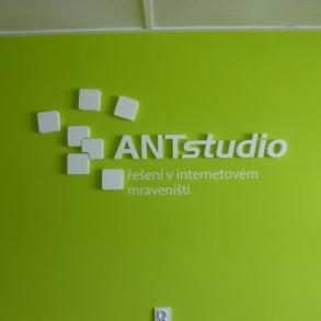 3D loga na zeď pro ANTstudio