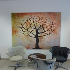 obraz stromu do čekárny - Steelcase