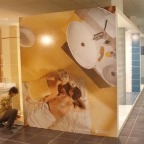 výroba a instalace obrazů do koupelnového centra