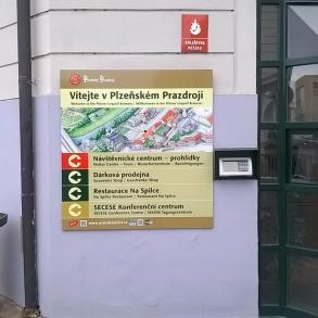 orientační systémy v areálu Plzeňský Prazdroj