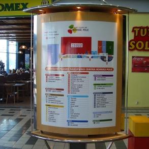 orientační plánek nákupního centra Borská pole Plzeň