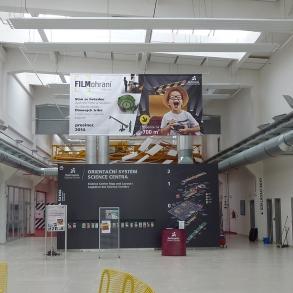 orientační systém pro Techmania Science Center