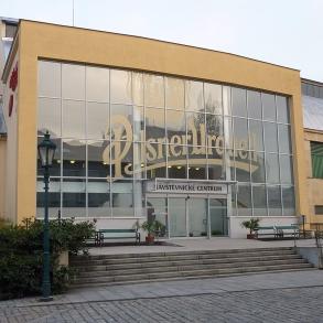 označení návštěvnického centra Pilsner Urquell