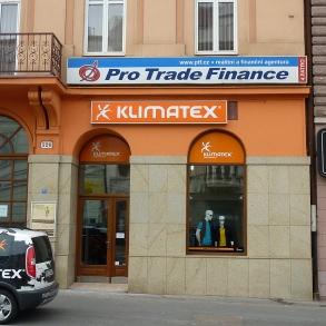 označení prodejny Klimatex