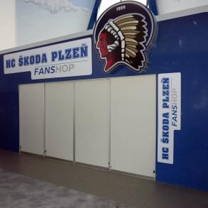 označení Fan shopu FC Škoda Plzeň