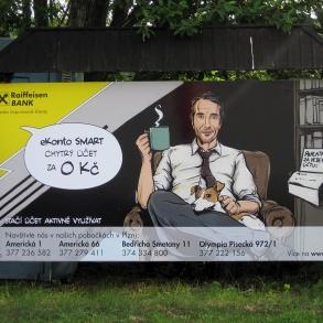 reklamní plocha - parkoviště