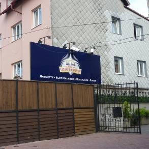 nasvětlený billboard
