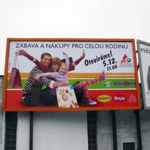 billboard Plzeň Plaza