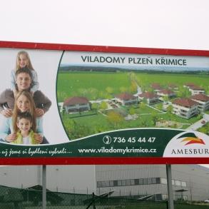eurobillboard včetně konstrukce - viladomy Křimice
