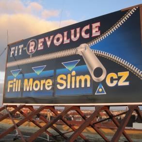 billboard na střešní konstrukci