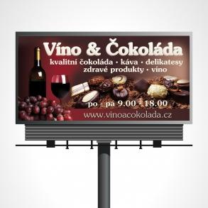 návrh billbiardu - víno a čokoláda