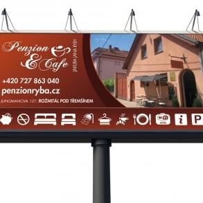 návrh billboardu - Penzion Ryba