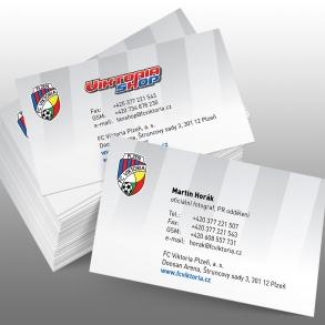 tisk vizitek pro FC Viktoria Plzeň