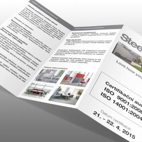 tisk oboustranné skládačky pro Steelcase