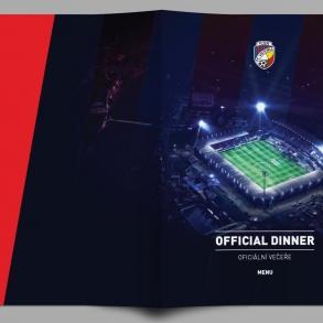 tisk oboustranných menu pro FC Viktoria Plzeň