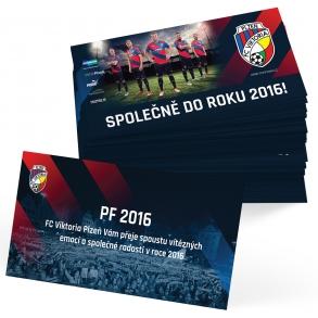 tisk novoročenek pro FC Viktoria Plzeň