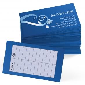 tisk oboustranných vizitek pro BICOM Plzeň
