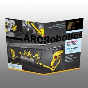 tisk oboustranného skládaného prospektu pro ARC Robotics