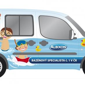 grafický návrh na polep aut Albixon
