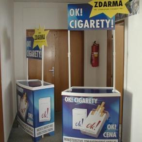 stánek OK cigarety