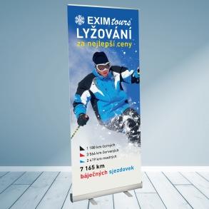 roletový stojan EximTours - zimní lyžování