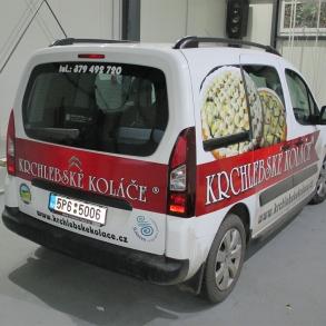 polep dodávky Krchlebské koláče