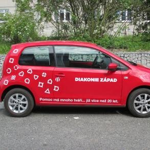 polep vozového parku - Diakonie