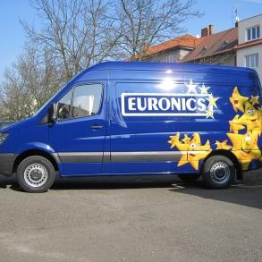 polep dodávky Euronics