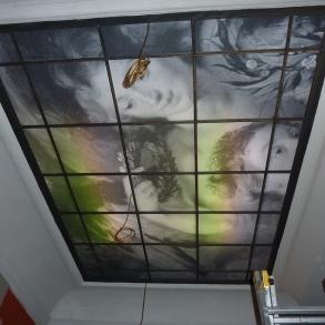 polep proskleného stropu
