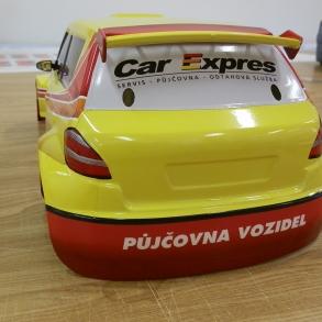 polep modelu autíčka pro Car Expres