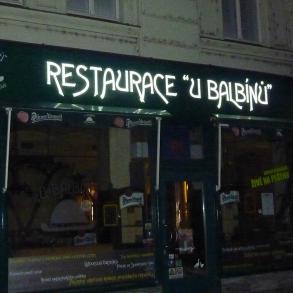 světelná reklama Restaurace u Balbínů