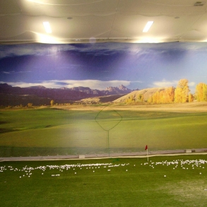 plachta pro golfové centrum