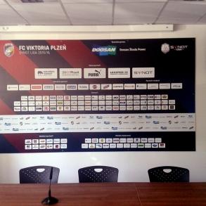 tabule partnerů do tiskové místnosti - FC Viktoria Plzeň